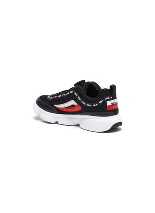 Detail View - Click To Enlarge - FILA - 'Disrutor' logo band panelled leather kids sneakers