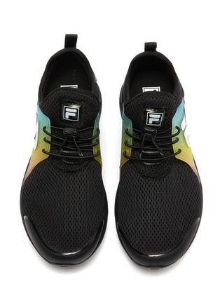 Figure View - Click To Enlarge - FILA - Rainbow panel perforated mesh kids sneakers