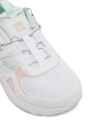Detail View - Click To Enlarge - FILA - Panelled leather toddler sneakers