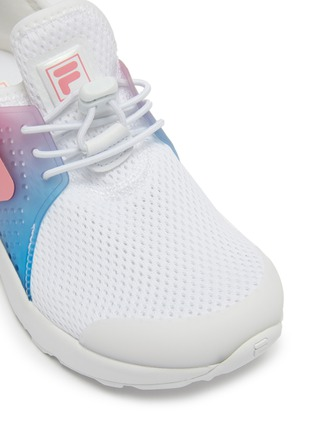 Detail View - Click To Enlarge - FILA - Ombré panel perforated mesh kids sneakers