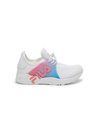 Main View - Click To Enlarge - FILA - Ombré panel perforated mesh kids sneakers