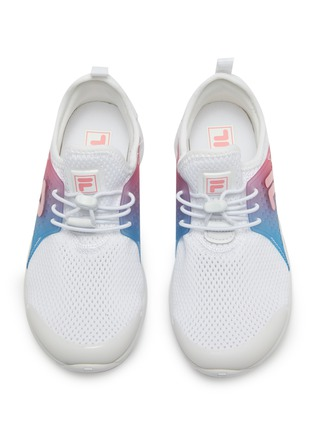 Figure View - Click To Enlarge - FILA - Ombré panel perforated mesh kids sneakers