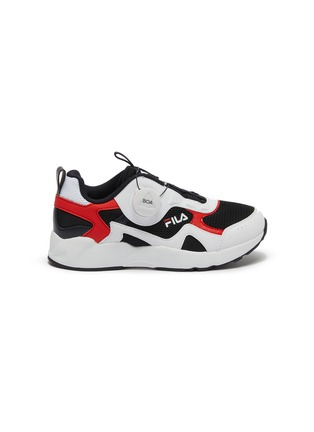 Main View - Click To Enlarge - FILA - Panelled leather toddler sneakers
