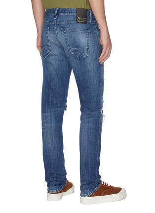 Back View - Click To Enlarge - DENHAM - 'Razor' rip-and-repair slim jeans