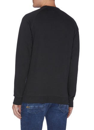 Back View - Click To Enlarge - DENHAM - Logo patch sweatshirt