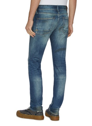 Back View - Click To Enlarge - DENHAM - 'Razor' rip-and-repair washed slim jeans