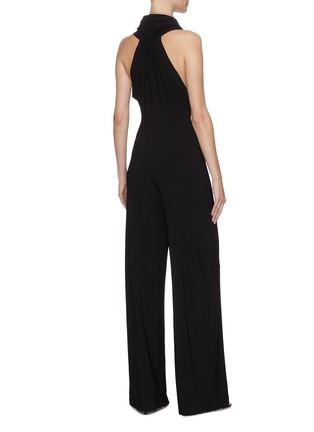 Back View - Click To Enlarge - NORMA KAMALI - Sleeveless cowl neck jumpsuit