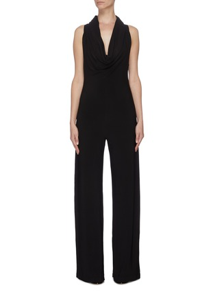 Main View - Click To Enlarge - NORMA KAMALI - Sleeveless cowl neck jumpsuit