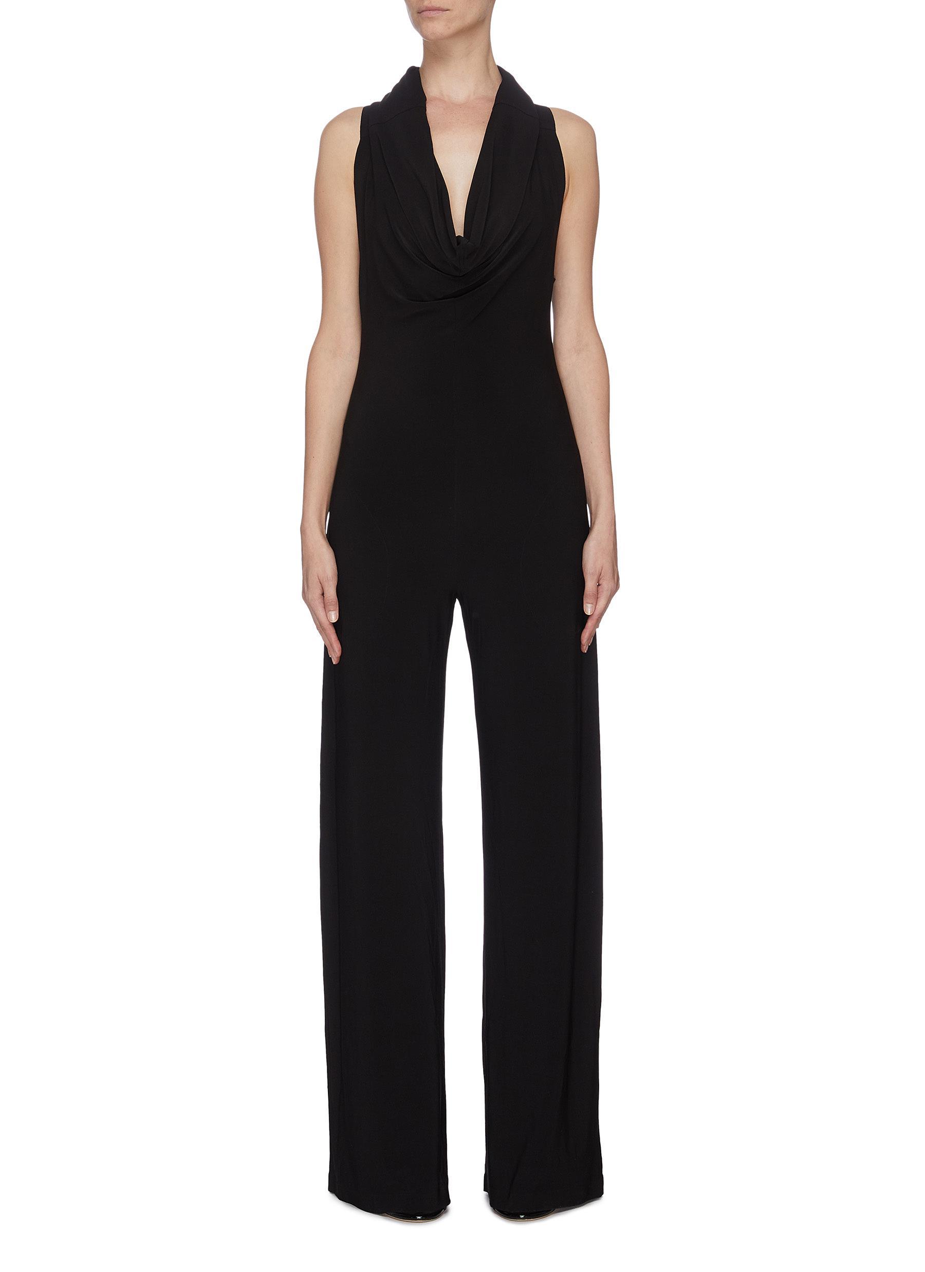 shop Norma Kamali Sleeveless cowl neck jumpsuit online