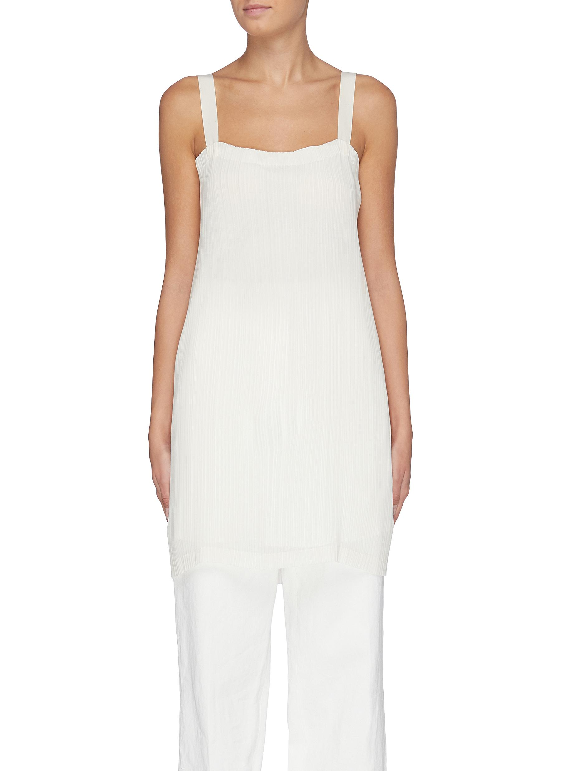 Candid plisse pleated crepe top by The Row
