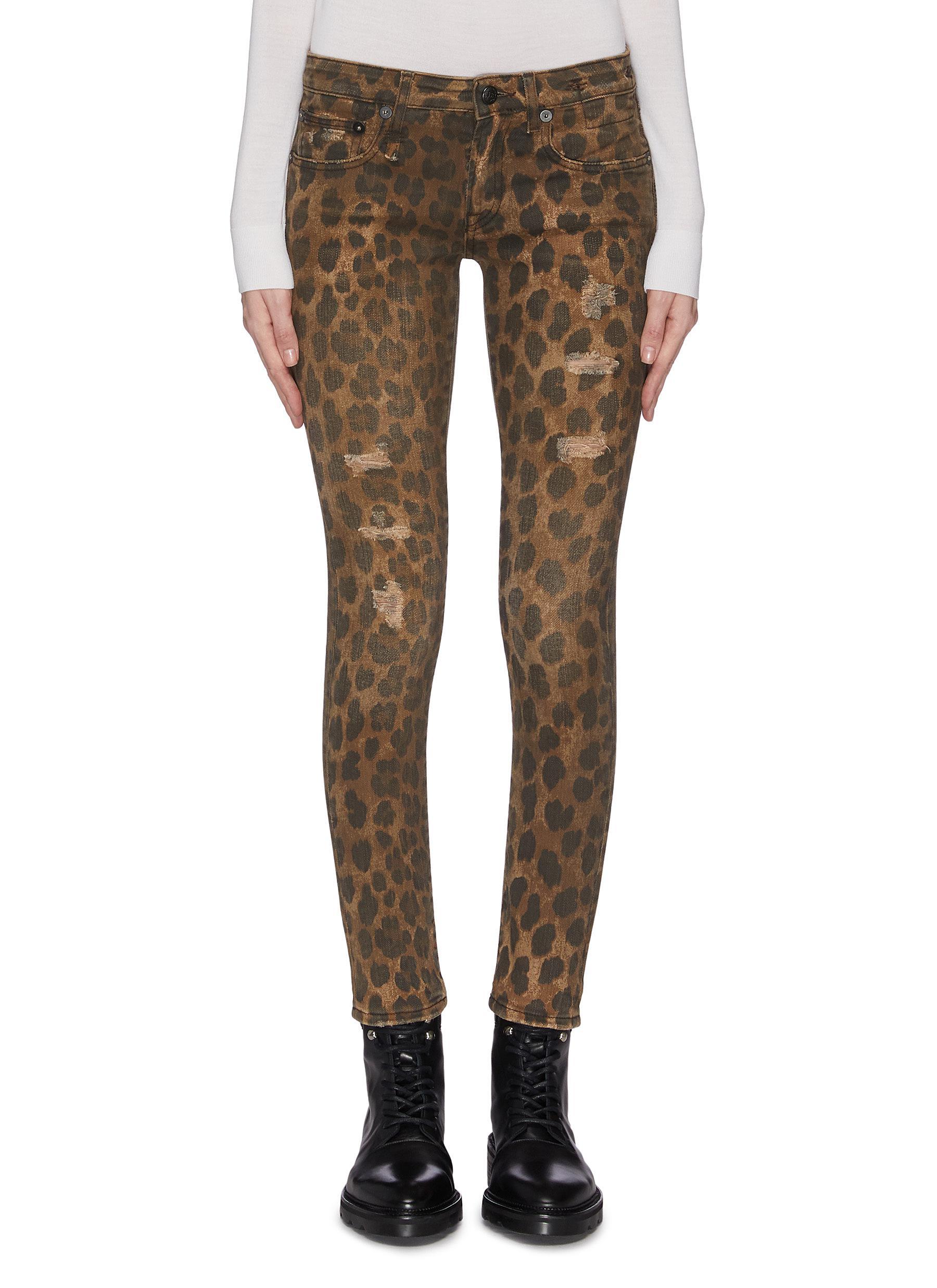 Buy R13 Jeans 'Kate' leopard print skinny jeans