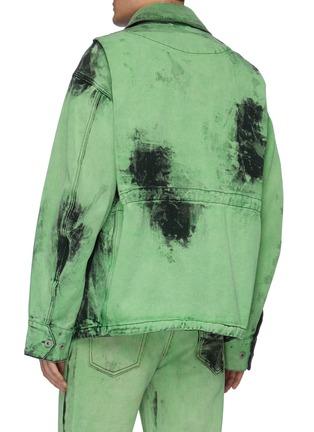 Back View - Click To Enlarge - FENG CHEN WANG - Acid wash chest pocket denim jacket