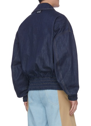 Back View - Click To Enlarge - FENG CHEN WANG - Chinese resist dye handwoven denim jacket