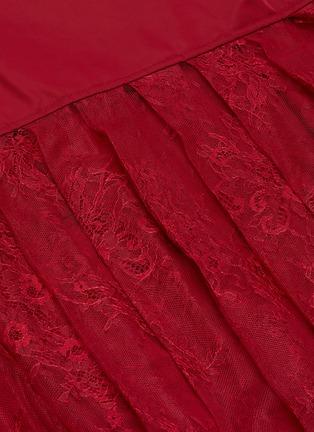 - SELF-PORTRAIT - Sheer lace back bomber jacket