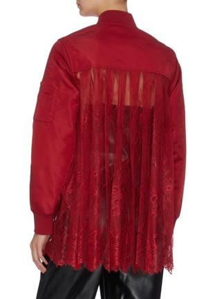 Back View - Click To Enlarge - SELF-PORTRAIT - Sheer lace back bomber jacket