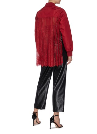 Figure View - Click To Enlarge - SELF-PORTRAIT - Sheer lace back bomber jacket