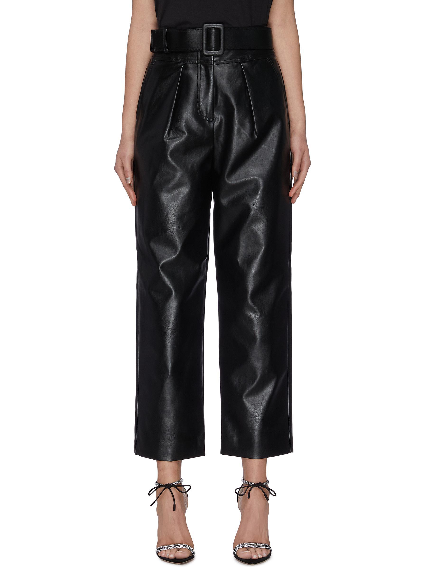 shop Self-Portrait Belted leather pants online