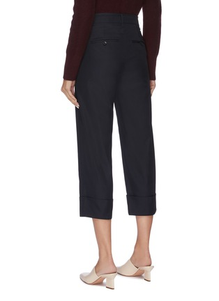 Back View - Click To Enlarge - VINCE - Panel cuff cropped suiting pants