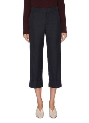 Main View - Click To Enlarge - VINCE - Panel cuff cropped suiting pants