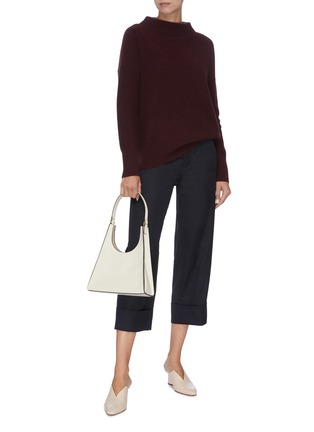 Figure View - Click To Enlarge - VINCE - Panel cuff cropped suiting pants