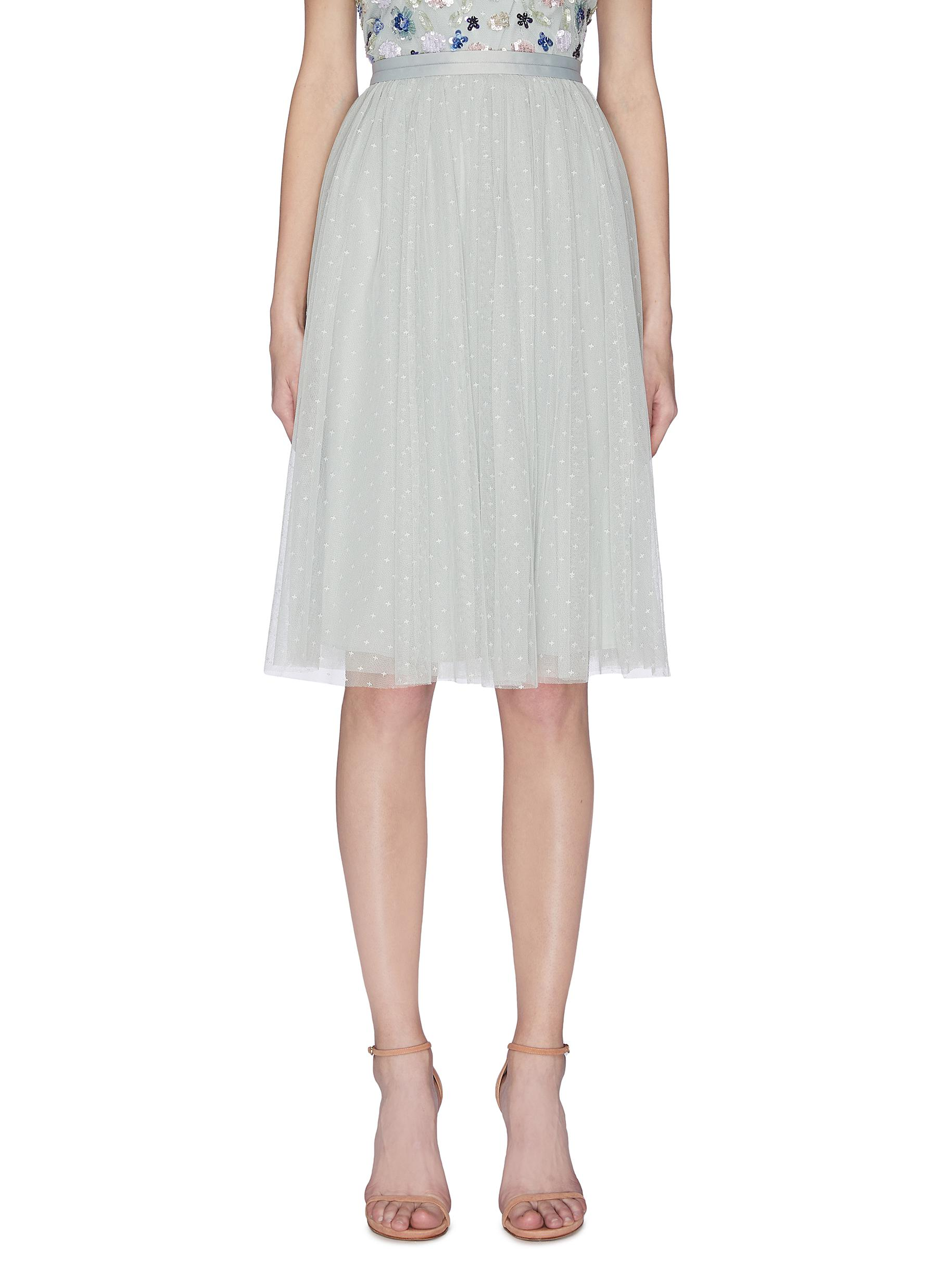 Buy Needle & Thread Skirts 'Kisses' tulle midi skirt