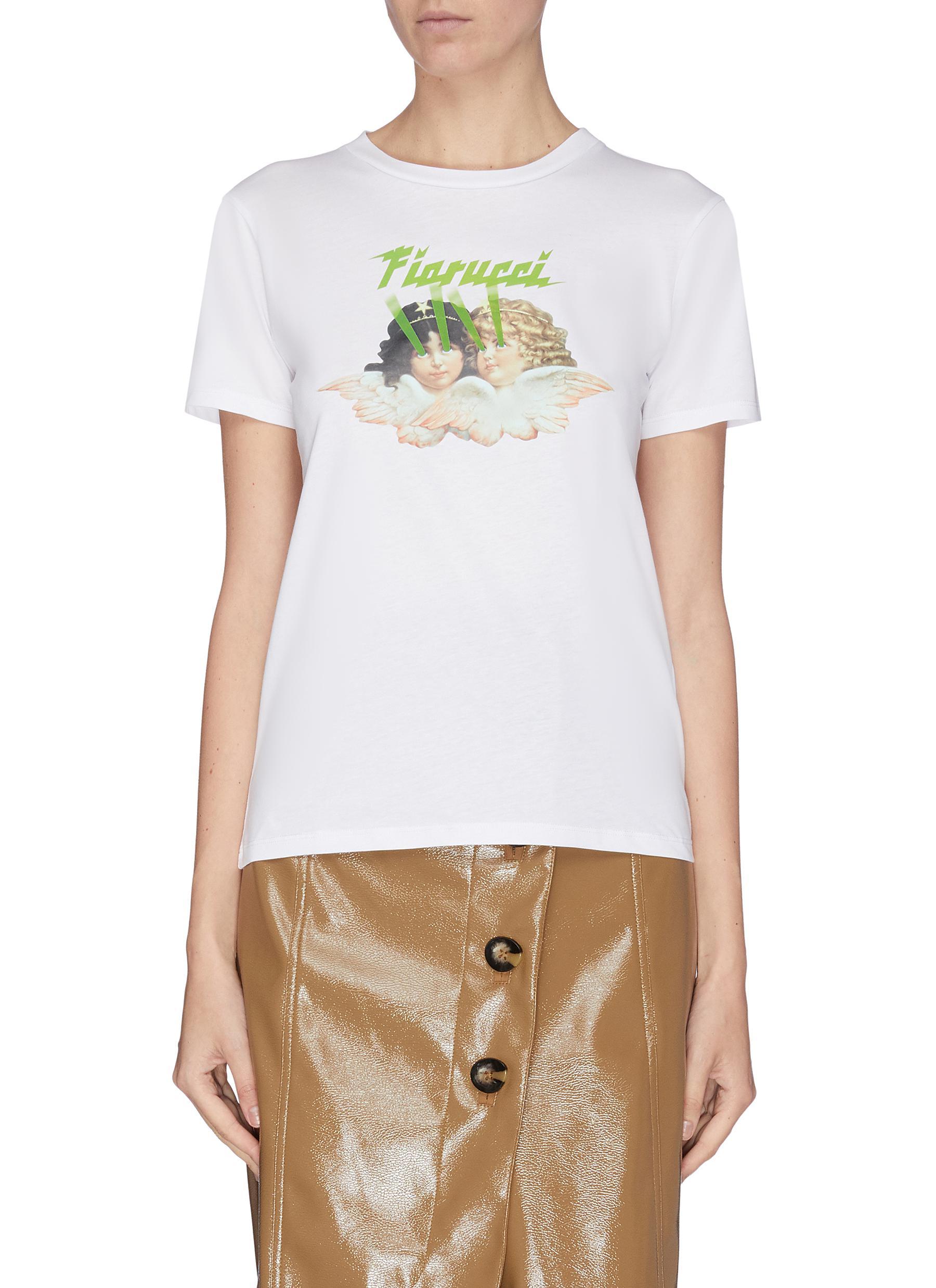 Buy Fiorucci Tops Angel laser logo print T-shirt