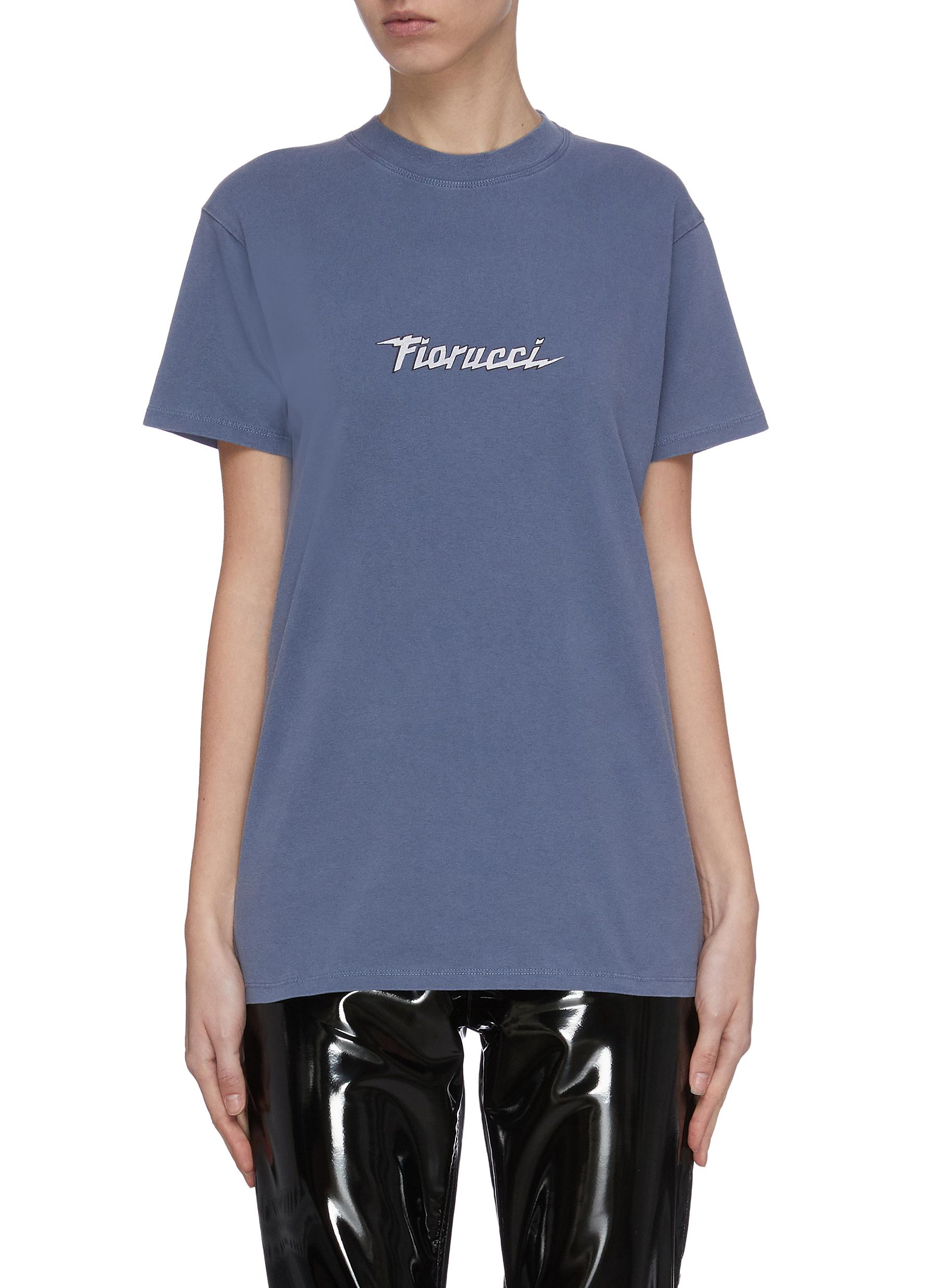 shop Fiorucci Spaceship logo print T-shirt online