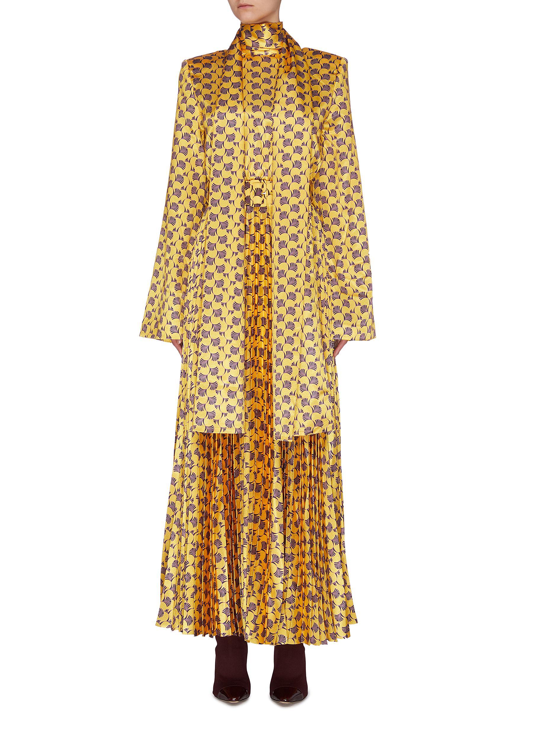 Buy Solace London Dresses 'Elin' graphic print neck tie maxi dress