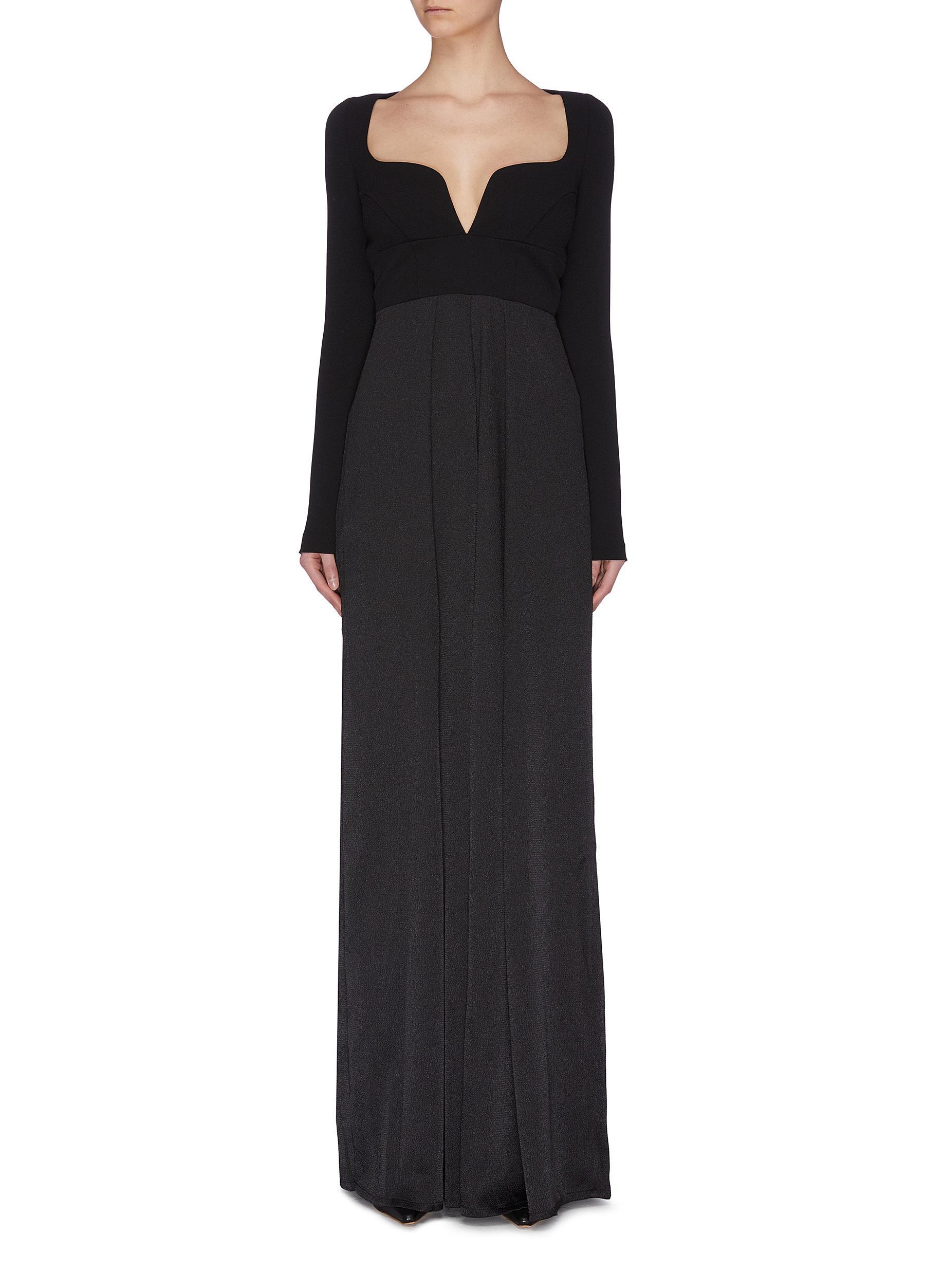 Buy Solace London Pants & Shorts 'Jaya' sweetheart neckline paneled jumpsuit