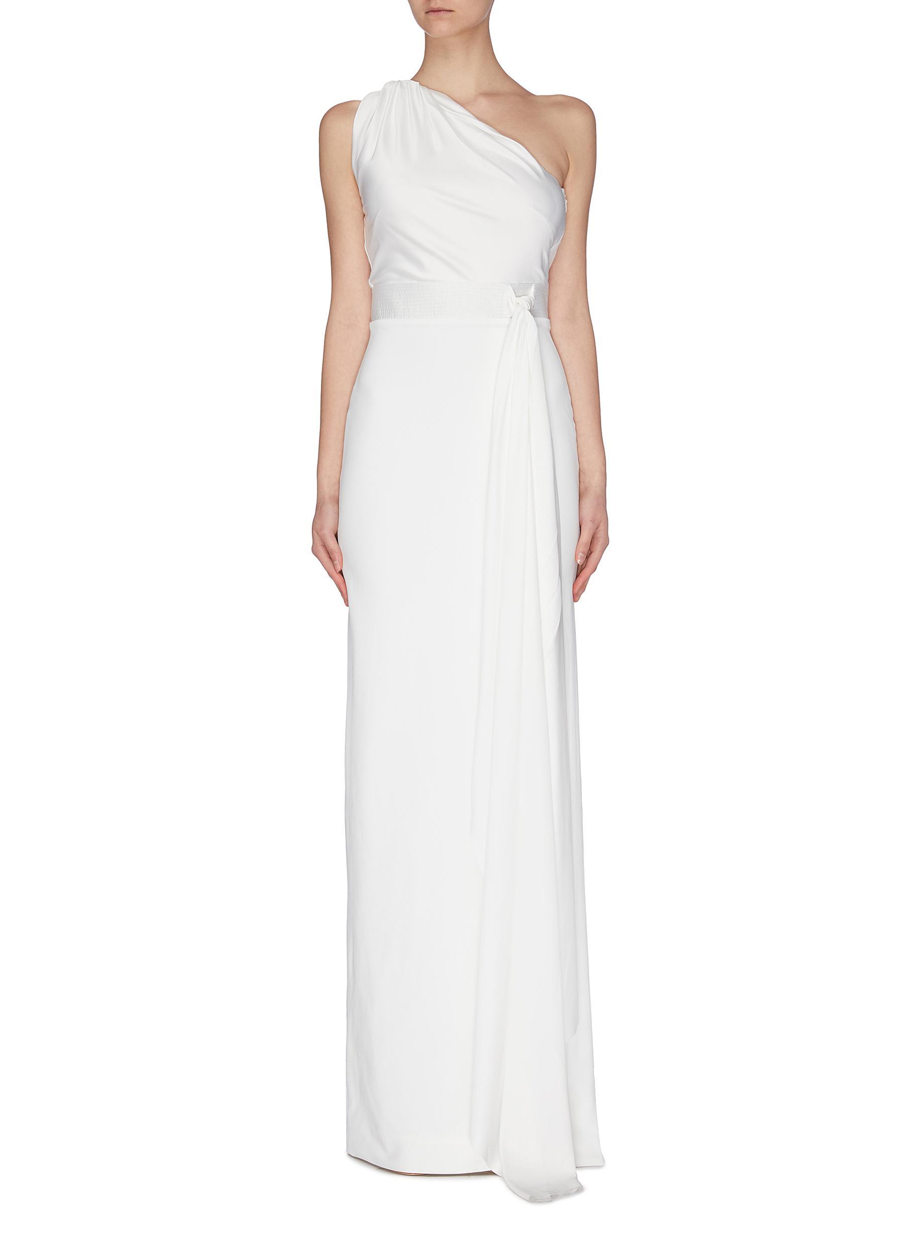 shop Solace London 'Mara' one shoulder waist detail maxi dress online