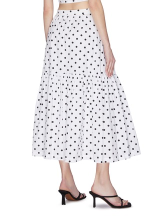 Back View - Click To Enlarge - STAUD - 'Orchid' Polka Dot Skirt