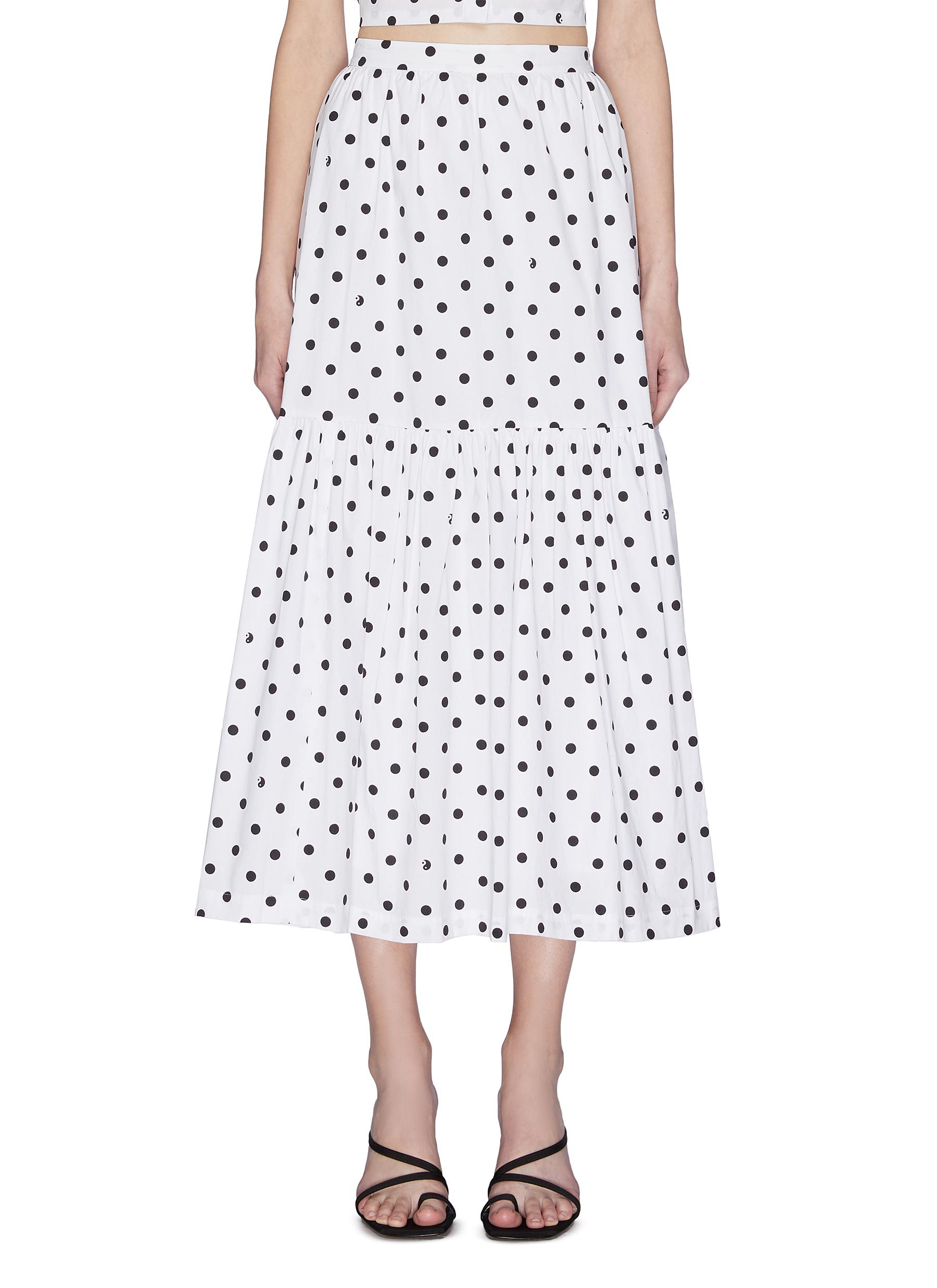 shop Staud 'Orchid' Polka Dot Skirt online