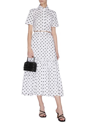 Figure View - Click To Enlarge - STAUD - 'Orchid' Polka Dot Skirt