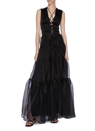 Figure View - Click To Enlarge - STAUD - 'Dragon' Ruffle Tulle Skirt