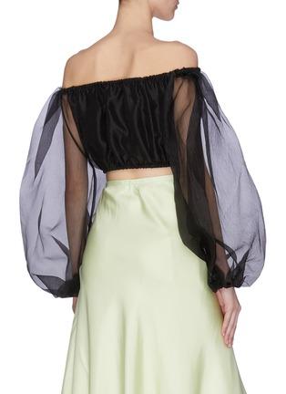 Back View - Click To Enlarge - STAUD - 'Leilani' off shoulder sheer sleeves top