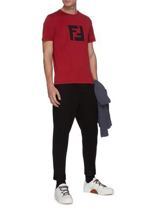 Figure View - Click To Enlarge - FENDI SPORT - Logo print T-shirt