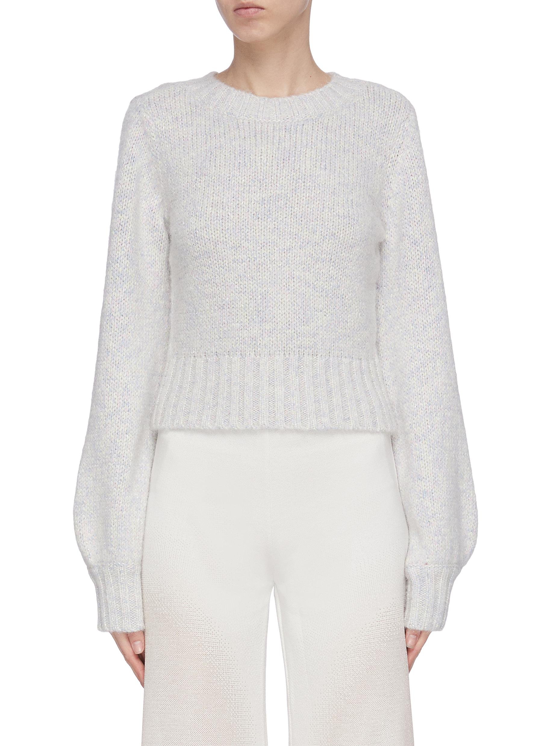 Buy Staud Knitwear 'Inu' blouson sleeve sweater
