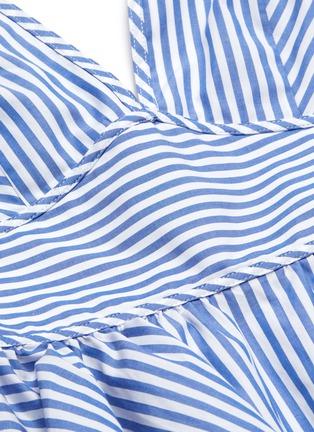 - STAUD - 'Luna' striped V-neck puff sleeve top