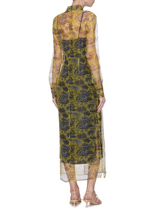 Back View - Click To Enlarge - STAUD - 'Frank' graphic print sheer organza dress