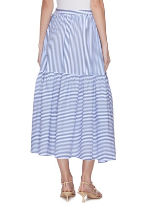 Back View - Click To Enlarge - STAUD - 'Orchid' stripe midi skirt