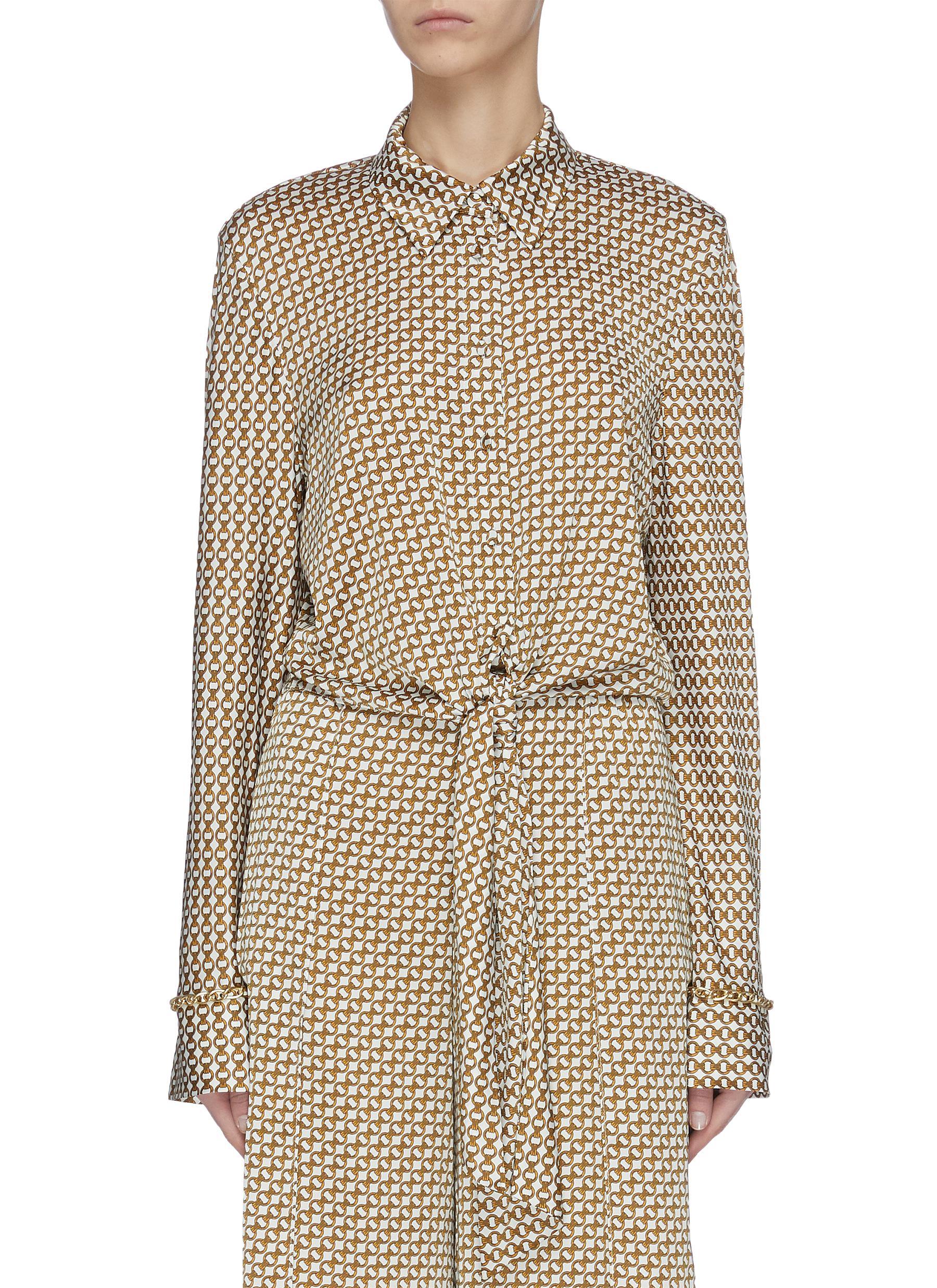 shop Jonathan Simkhai Chain print twist front blouse online
