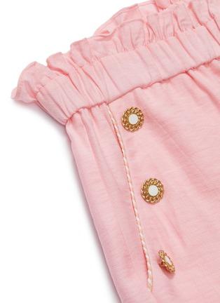 - JONATHAN SIMKHAI - Ruffle waist button detail wide leg pants