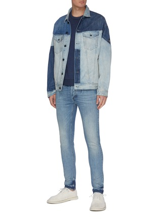 Figure View - Click To Enlarge - DENHAM - 'Future' ombre wash skinny jeans