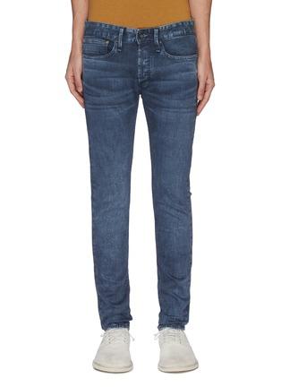 Main View - Click To Enlarge - DENHAM - 'Bolt' dark wash skinny jeans