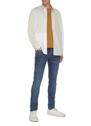 Figure View - Click To Enlarge - DENHAM - 'Bolt' dark wash skinny jeans