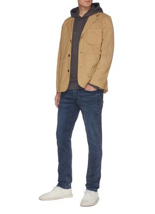 Figure View - Click To Enlarge - DENHAM - 'Razor' dark wash slim jeans