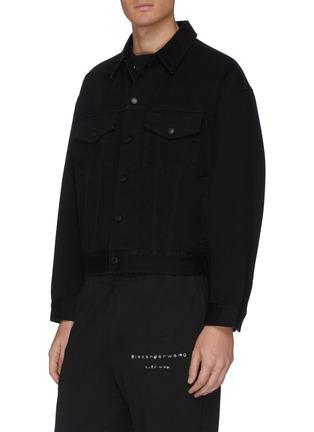 Detail View - Click To Enlarge - ALEXANDER WANG - x Lane Crawford logo embroidered denim jacket