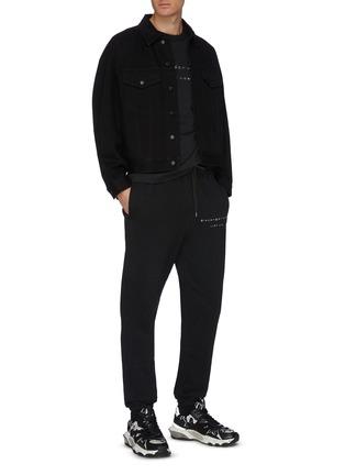 - ALEXANDER WANG - x Lane Crawford logo embroidered denim jacket