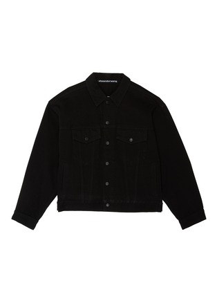Main View - Click To Enlarge - ALEXANDER WANG - x Lane Crawford logo embroidered denim jacket