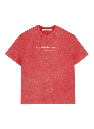 Main View - Click To Enlarge - ALEXANDER WANG - x Lane Crawford logo embroidered acid wash unisex T-shirt